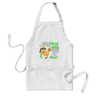 Mad Chick Messed With My Niece 3 Lymphoma Standard Apron