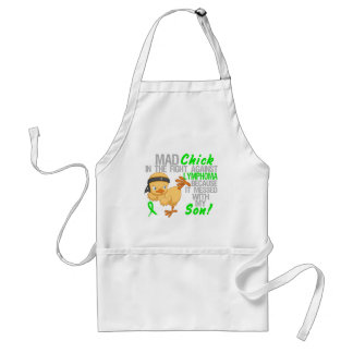 Mad Chick Messed With My Son 3 Lymphoma Standard Apron