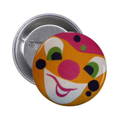 Mad clown button