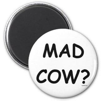 Mad Cow? 6 Cm Round Magnet