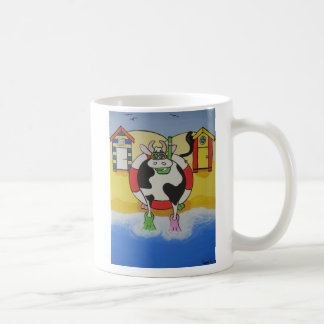 Mad Cow at the Beach Coffee Mug