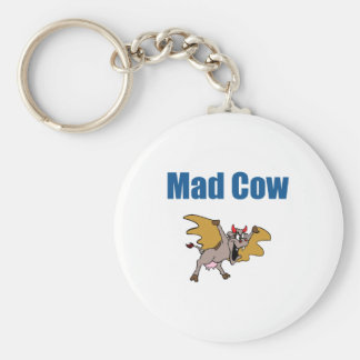 Mad Cow Basic Round Button Key Ring