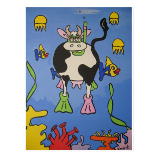 Mad Cow Dives Postcard