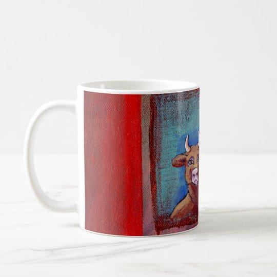 Mad Cow - Indignant upset emotional cow ART Coffee Mug