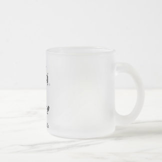 Mad Cow Tshirts and Gifts 10 Oz Frosted Glass Coffee Mug