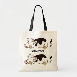 Mad cows canvas bag