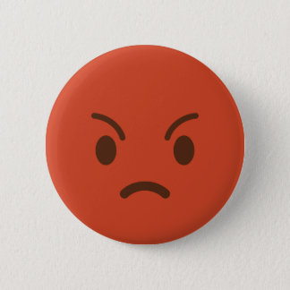 Mad Emoji 6 Cm Round Badge