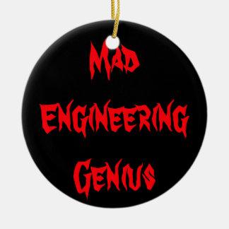 Mad Engineering Genius Geeky Geek Nerd Gifts Christmas Ornament