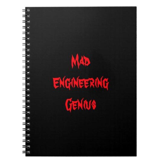 Mad Engineering Genius Geeky Geek Nerd Gifts Notebook