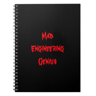 Mad Engineering Genius Geeky Geek Nerd Gifts Spiral Notebook