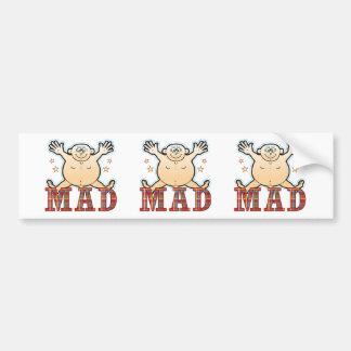 Mad Fat Man Bumper Sticker