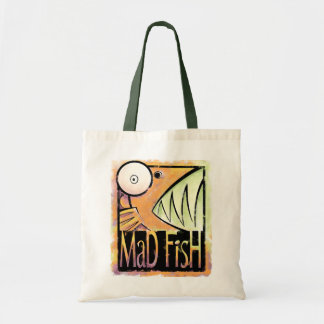Mad Fish Tote Bags