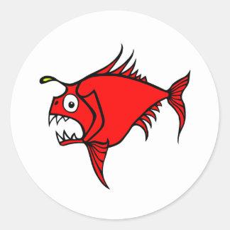 Mad Fish Red sticker