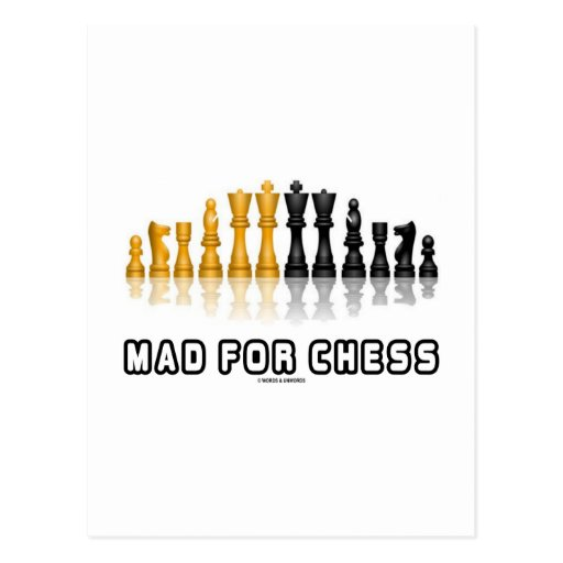 Mad For Chess (Reflective Chess Set) Postcards