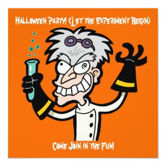 Mad Genius Halloween Invitation