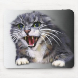 Mad Gray Cat Mousepad