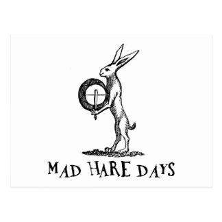Mad Hare Days Postcard