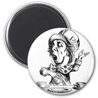 Mad Hatter 6 Cm Round Magnet
