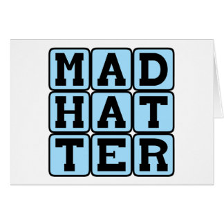 Mad Hatter, Alice in Wonderland Character Greeting Card