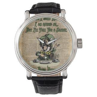 Mad Hatter,Alice In Wonderland,Quote Vintage Art Watch