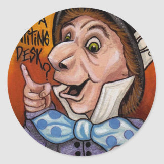 MAD HATTER Alice in Wonderland Sticker