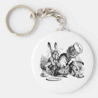 Mad Hatter and March Hare dunking the Dormouse Key Ring