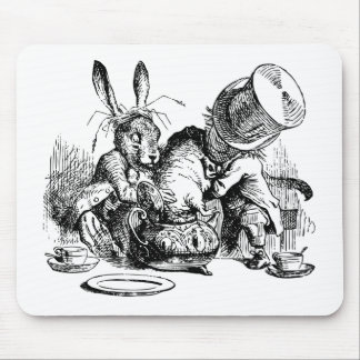 Mad Hatter and March Hare dunking the Dormouse Mouse Mat