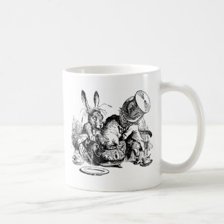 Mad Hatter and March Hare dunking the Dormouse Mug