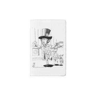 Mad Hatter at Court Pocket Moleskine Notebook