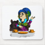 Mad Hatter at Tea from Alice in Wonderland Mousepads