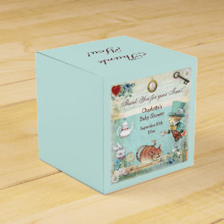Mad Hatter Baby Shower Thank You Favour Box