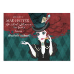 Mad Hatter Bridal Shower Tea Party Invitation