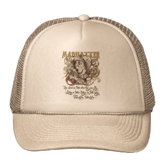 Mad Hatter Carnivale Style with poem Trucker Hat