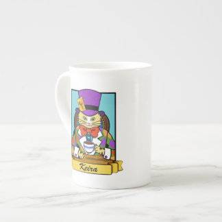 Mad hatter cat tea cup
