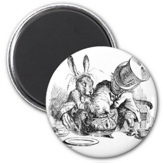 Mad Hatter, Dormouse and March Hare 6 Cm Round Magnet