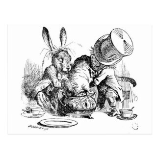 Mad Hatter, Dormouse and March Hare Postcard