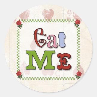Mad Hatter Eat Me Sticker