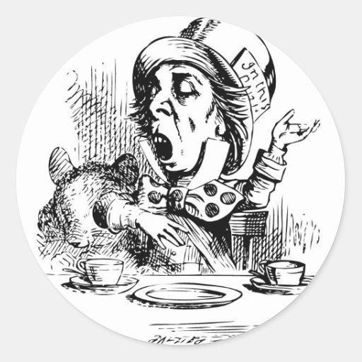 Mad Hatter engaging in rhetoric Sticker