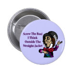 Mad Hatter Funny Motivational Quote 6 Cm Round Badge