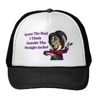 Mad Hatter Funny Motivational Quote Cap