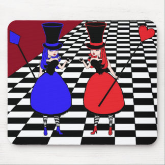 Mad Hatter - Heart & Diamond Mouse Pad