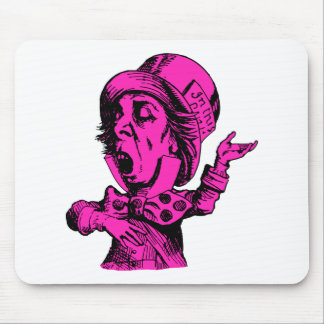 Mad Hatter Inked Pink Fill Mouse Pad