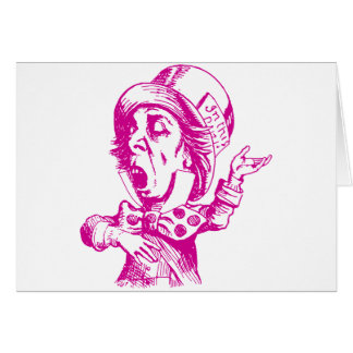 Mad Hatter Inked Pink Greeting Card