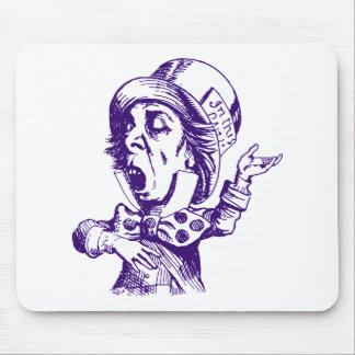 Mad Hatter Inked Purple Mouse Pad