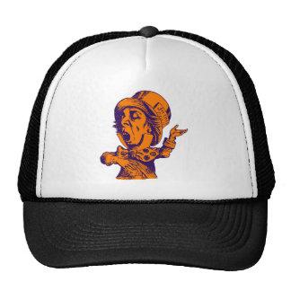 Mad Hatter Inked Purple Orange Trucker Hats