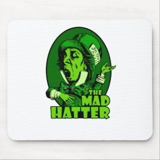 Mad Hatter Logo Green Mouse Pad