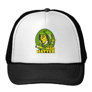 Mad Hatter Logo Yellow Green Cap