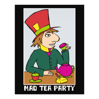 Mad Hatter Mad Tea Party 21.5 Cm X 28 Cm Flyer