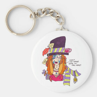 Mad Hatter March Hare Keyring