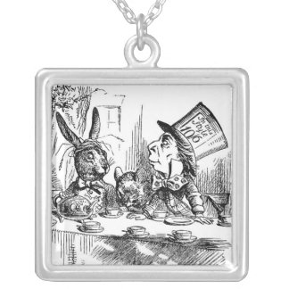 Mad Hatter March Hare Tea Party Art Pendant